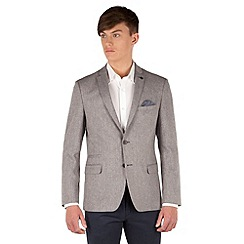 Red Herring - Sand donegal 2 button slim fit jacket
