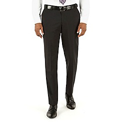 Racing Green - Plain black tailored fit suit trousers