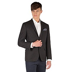 Red Herring - Charcoal textured 2 button slim fit jacket