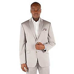 J by Jasper Conran - Grey cotton 2 button front tailored fit summer suit