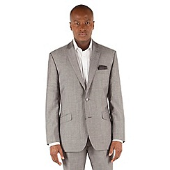 J by Jasper Conran - Grey linen 2 button front tailored fit summer suit