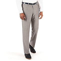 J by Jasper Conran - Grey linen plain front tailored fit summer suit trouser