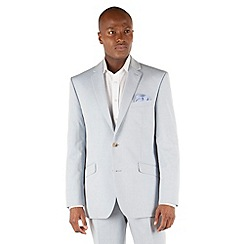 J by Jasper Conran - Light blue plain 2 button front tailored fit suit jacket