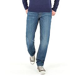 Racing Green - Dene Straight Fit Blue Wash Jean