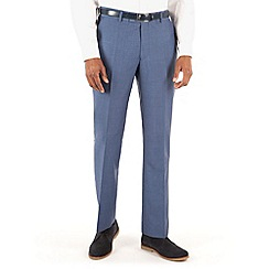 J by Jasper Conran - Blue linen plain front tailored fit summer suit trouser