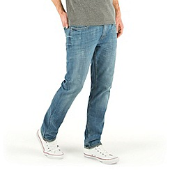 Racing Green - Marr Slim Fit Blue Distressed Wash Jean