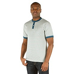 Racing Green - Graduate Stripe Henley Top