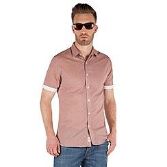 Racing Green - Bridlington short sleeve Tile Print shirt