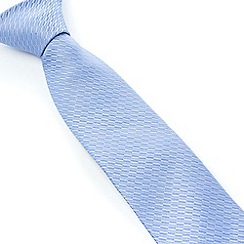 Stvdio by Jeff Banks - Light Blue Irregular Textured Tie