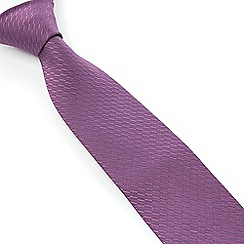 Stvdio by Jeff Banks - Stvdio by Jeff Banks Dusky Lilac Irregular Textured Tie