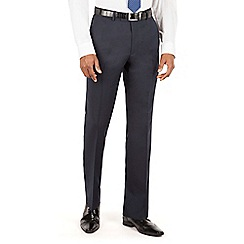 Hammond & Co. by Patrick Grant - Blue Navy plain front tailored fit suit trouser