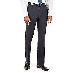 Hammond & Co. by Patrick Grant - Blue Navy plain front tailored fit suit trouser