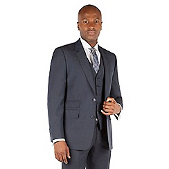 Hammond & Co. by Patrick Grant - Navy tonal check 2 button front tailored fit st james suit jacket