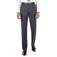 Hammond & Co. by Patrick Grant - Hammond & Co. by Patrick Grant Navy tonal check plain front tailored fit suit trouser