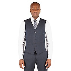 Hammond & Co. by Patrick Grant - Hammond & Co. by Patrick Grant Navy tonal check 6 button tailored fit suit waistcoat
