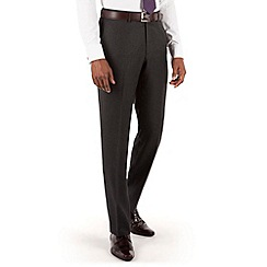 Hammond & Co. by Patrick Grant - Charcoal puppytooth plain front tailored fit suit trouser