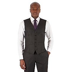Hammond & Co. by Patrick Grant - Charcoal puppytooth 6 button tailored fit suit waistcoat
