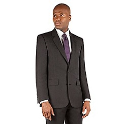 Hammond & Co. by Patrick Grant - Hammond & Co. by Patrick Grant Charcoal herringbone 2 button tailored fit st james suit