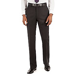 Hammond & Co. by Patrick Grant - Charcoal herringbone plain front tailored fit suit trouser