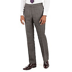 Hammond & Co. by Patrick Grant - Grey check plain front tailored fit savile row suit trouser