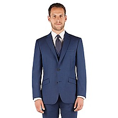 J by Jasper Conran - Blue plain 2 button front regular fit occasions suit jacket