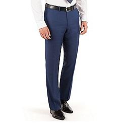 J by Jasper Conran - Navy Blue plain front regular fit occasions suit trouser