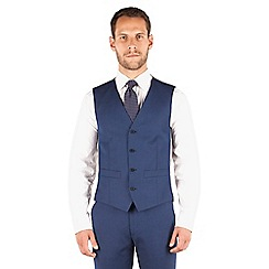 J by Jasper Conran - J by Jasper Conran Blue plain 4 button front tailored fit occasions suit waistcoat