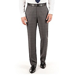 J by Jasper Conran - J by Jasper Conran Grey check plain front tailored fit occasions suit trouser
