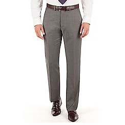 J by Jasper Conran - Grey pindot plain front tailored fit occasions suit trouser