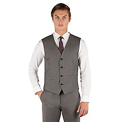 J by Jasper Conran - J by Jasper Conran Grey pindot 4 button front tailored fit occasions suit waistcoat