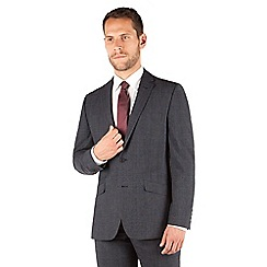 J by Jasper Conran - Blue jasper check 2 button front tailored fit business suit jacket