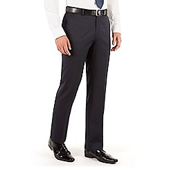 J by Jasper Conran - Navy stripe flat front regular fit business suit trouser