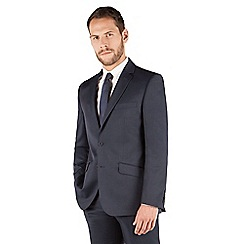 J by Jasper Conran - J by Jasper Conran Blue pindot 2 button front tailored fit business suit jacket