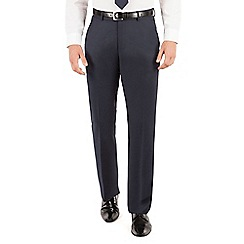 J by Jasper Conran - J by Jasper Conran Blue pindot plain front tailored fit business suit trouser