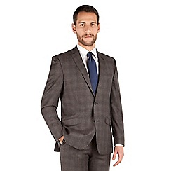 J by Jasper Conran - J by Jasper Conran Brown check 2 button front tailored fit luxury suit
