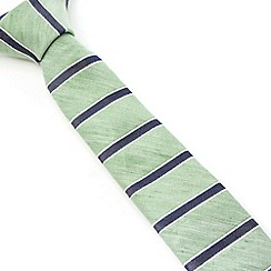 Racing Green - Melia Horizontal Stripe Tie
