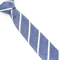 Racing Green - Morley Bias Cut Stripe Tie