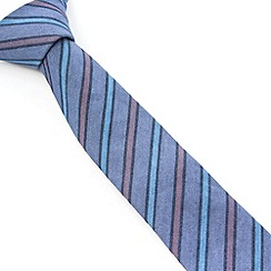 Racing Green - Adams Bias Cut Stripe Tie