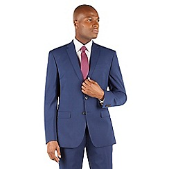 Stvdio by Jeff Banks - Stvdio by Jeff Banks Blue plain 2 button front ivy league tailored fit suit jacket