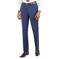 Stvdio by Jeff Banks - Stvdio by Jeff Banks Blue plain flat front ivy league suit trouser