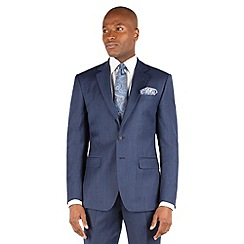 Stvdio by Jeff Banks - Blue flannel 2 button front ivy league fit suit jacket