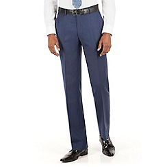 Stvdio by Jeff Banks - Stvdio by Jeff Banks Blue grey flannel plain front tailored fit suit trouser
