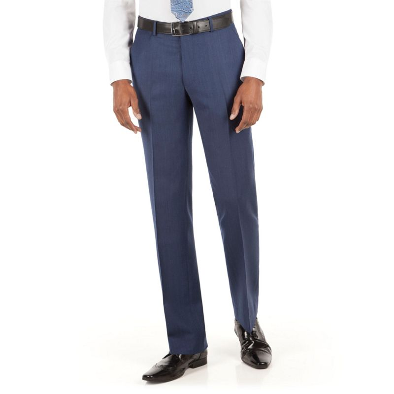 Stvdio by Jeff Banks Blue grey flannel plain front tailored