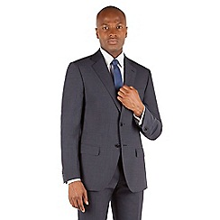 Stvdio by Jeff Banks - Stvdio by Jeff Banks Navy plain 2 button front tailored fit suit jacket