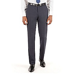 Stvdio by Jeff Banks - Stvdio by Jeff Banks Navy plain front tailored fit suit trouser