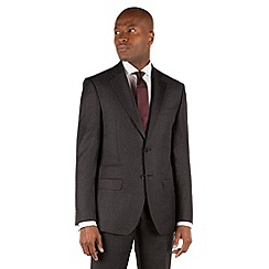 Stvdio by Jeff Banks - Charcoal dogtooth 2 button front tailored fit suit jacket