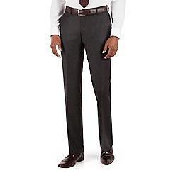 Stvdio by Jeff Banks - Stvdio by Jeff Banks Stvdio by Jeff Banks Charcoal Dogstooth plain front tailored fit suit trouser