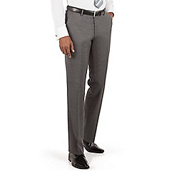 BEN SHERMAN - Ben Sherman Grey textured plain front slim fit kings suit trouser