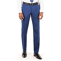 BEN SHERMAN - Bright blue plain front slim fit kings suit trouser.