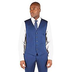 Ben Sherman - Bright blue plain slim fit kings suit waistcoat.